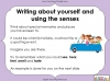 Using the Senses (KS1 Poetry Unit) Teaching Resources (slide 42/59)